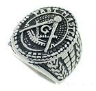 Masonic rings ebay Freemason Ring - Past Master Ring w/ Text and antiqued design