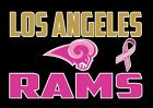 Los Angeles Rams Cancer Awareness Women's Scallop Bottom Racerback Tank Tops $20.99 USD on eBay