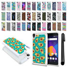 "For Alcatel OneTouch Idol 3 5.5"" 6045 6045Y Studded Bling HYBRID Case Cover +Pen"