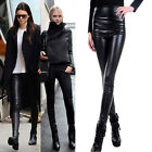 New women slim Winter High Waist warm velvet Artificia leather leggings pants
