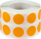 Circle Dot Stickers, 1/2 Inch Round, 1000 on a Roll, 52 Color Choices