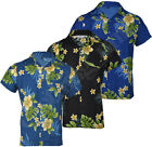Mens Big Size Hawaiian Fancy Dress Floral Shirt Holiday Short Sleeve 3-5XL