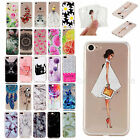 Slim TPU Painted Protective Soft Rubber Clear Back Case Cover For iPhone...