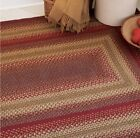 CIDER BARN BRAIDED AREA RUGS By HOMESPICE DECOR. OVAL & RECTANGLE. MANY SIZES!