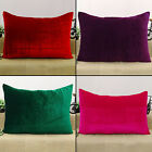 Indian Cushion Cover Solid Pattern Home Decor Throw Pillow Sham Velvet Case