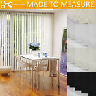 MADE TO MEASURE VERTICAL BLINDS - PLAIN / PATTERN - LIGHT FILTERING / BLACKOUT