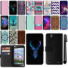 For ZTE Lever LTE Z936L Magnetic Flip Wallet Leather POUCH Case Cover + Pen
