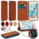 Luxury Magnetic Leather Wallet Flip Case Stand Protective Cover For Mobile Phone