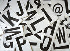 "115mm 4½"" Black on White Sticky Letters, Lettering Stickers, Plastic Labels"