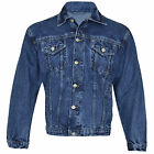 MENS DENIM JACKETS TRUCKER CLASSIC VINTAGE WORKWEAR WESTERN STONEWASH JEAN COAT