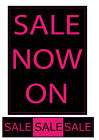 Salesigns Pink and Black Sale shop Window Posters and Signs you choose