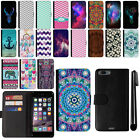 For Apple iPhone 7 Plus 5.5 inch Magnetic Wallet Leather POUCH Case Cover + Pen