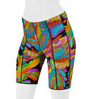Aero Tech Designs Womens Rio Hippie Print Padded Cycling Spandex Bike Short