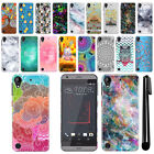 For HTC Desire 530 630 Art Design Protective Phone Hard Case Back Cover + Pen