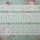 """Antique Style Double Edged Embroidery Tulle Lace Trim 1.4"""" 2.2"""" 2.3"""" Wide 1Yd"""