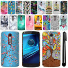 For Motorola Droid Turbo 2 Kinzie XT1585 Art Design Hard Case Back Cover + Pen