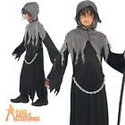 Boys Grim Reaper Costume Child Soul Taker Halloween Fancy Dress Outfit New