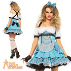 Adult Rebel Alice Tea Party Costume Wonder Land Sexy Fancy Dress Outfit New