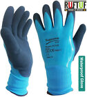 10 X Blue Aqua Latex Coated Waterproof Wet Breathable Nylon grip Work Gloves