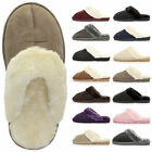 Womens ladies winter fur lined luxury comfortable gift snug slippers mules size