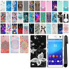For Sony Xperia C4 E5353 PATTERN HARD Protector Back Case Phone Cover + Pen