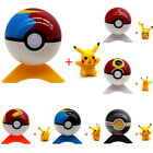 6Pcs Pokemon Go Poke Ball&Pikachu Monster Cosplay Pop-up Fighting With Tripod