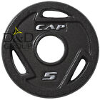 "CAP Barbell 2"" Olympic Grip 2.5 - 45 Lbs Single Plate Gym Weight Solid Cast Iron"