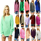 LADIES OVERSIZED BAGGY JUMPER KNITTED WOMENS SWEATER CHUNKY THICK KNIT TOP SALE