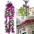 Vine Wisteria Artificial Silk Flower Hanging Orchid for Wedding Home Party Decor