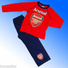 Boys Authentic Official Arsenal FC  Football Pyjamas Age 4 - 12 Years