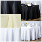 "10 132"" Round Premium Polyester Tablecloths Wedding Party Table Linens Wholesale"