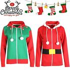 Unisex Mens Ladies SANTA Helper Jolly ELF Christmas Hooded Jumper Sweatshirt TOP