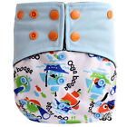 Happy Flute OS Bamboo Charcoal Pocket Diaper Reusable Washable Baby Diaper 1pcs