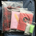 Clear Frosted Plastic Packaging Zipper Bags Reclosable For Clothes Underwear
