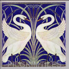 Metric Porcelain Tile Walter Crane Royal Blue Wall Floor Kitchen Bathroom