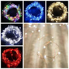 20 50 100 LEDs Micro Wire String Fairy Party XMAS Wedding Christmas Metal Lights