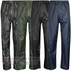 Mens Ladies Breathable Waterproof Rain Hiking Motorcycle Over Trousers Bottoms T