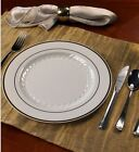 Wedding Party Disposable Plastic Dinnerware Round Plate Choice Size Color Inside