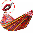 """59"""" Portable Double 2 Person Outdoor Swing Camping Hanging Hammock Canvas Bed"""