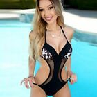New Women One-Piece Strip Swimsuit Beachwear Swimwear push up monokini Bathing