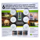 6 x Wireless Under Cabinet Puck LED Lights with Remote & DURACELL Batteries Incl