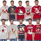 Men's Christmas Novelty Print T Shirt Explicit Top Funny Rude Joke Xmas Gift