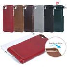 Original Genuine Leather Hard Back Case Cover Skin For iPhone 5 6 6s 7 7 8 Plus