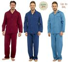 Mens Easy Iron PJs poly cotton Long Sleeve pyjamas M to 8XL