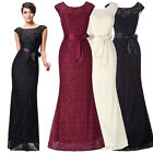 Long Lace Formal Evening Ball Party Prom Cocktail Dress Bridesmaid Wedding Gowns