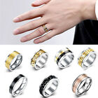 Punk Men Women Band Ring Titanium Stainless Steel Jewelry Couples Gift Size 7-10