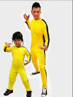 Bruce Lee Game of Death Adults Kids Jumpsuit Cosplay Halloween Costume Unisex