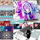 4in1 Bohemia Style Painted Skin Hard Case Cover for Macbook Air Pro 11/12/13/15