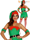 Ladies Elf Costume Adults Christmas Fancy Dress Womens Santas Helper Xmas Outfit