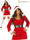 Ladies Mrs Claus Costume Adults Santa Christmas Fancy Dress Womens Xmas Outfit
